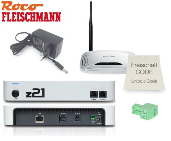 Roco / Fleischmann 10825 z21 start + Roco 10814 z21 WLAN Package