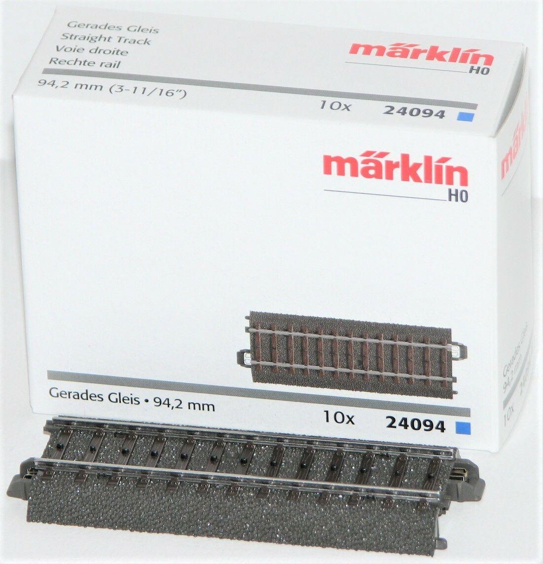 NEU + Märklin 24094 H0 C-Gleis Gerades Gleis 94,2 mm