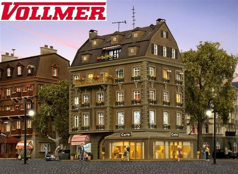 + Vollmer 43783 H0 Café mit Inneneinrichtung /& LED-Beleuchtung NEU /& OVP