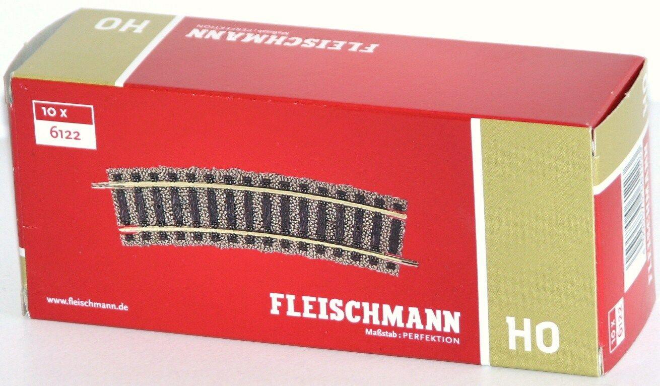18° NEU Radius R1 Fleischmann H0 6122 Gebogenes Gleis