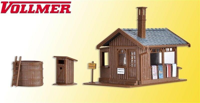 modellbahn center recklinghausen vollmer h0 45146 sauna mit inneneinrichtung und led beleuchtung. Black Bedroom Furniture Sets. Home Design Ideas