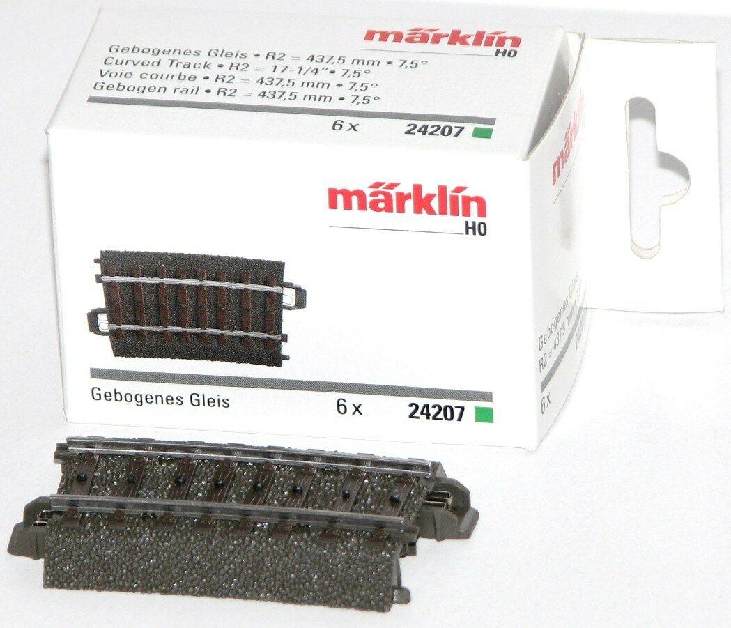 H0 Märklin 24207 Gebogenes Gleis R2-437,5 mm//7,5°