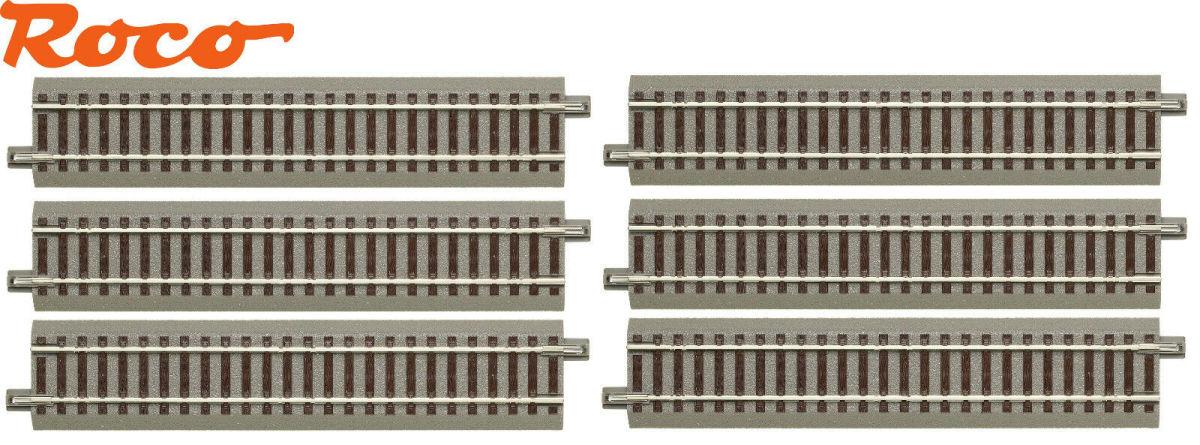 7,5° 6 Stück OVP - NEU Roco H0 61129-S gebogenes Gleis R2 geoLine