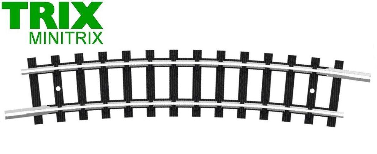 Trix Spur N 4928 gebogenes Gleis R6 15°  B9366